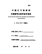 APPLICATION FORM FOR LIAONING GOVERNMENT SCHOLARSHIP (1).pdf