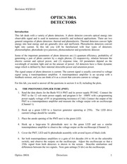 OPTI 380A Lab 3 Detectors - Procedures 2010-2
