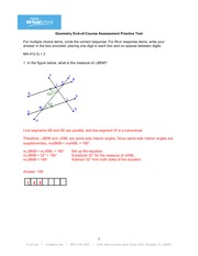 Geometry Practice Test with Answers
