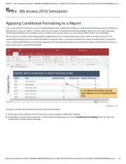 29 - Applying Conditional Formatting to a Report