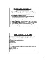 Lecture 8 - Promotion Mix [Compatibility Mode]