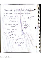 Rational Root Radical Equations, class notes