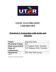 Organic chemistry lab report 3 (partial).docx