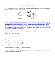 CHEM 324 Assignment 4 Solutions