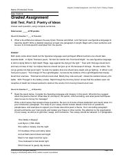 Graded Assignment Unit Test, Part 2- Poetry of Ideas.pdf