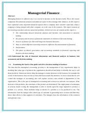Work # 1 Managerial finance (1500 words) August 16, 2015.doc