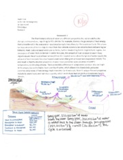 Oceanography homework #4 and #6