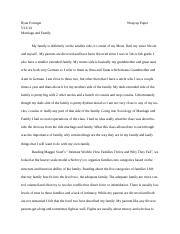 Sociology marriage and family paper