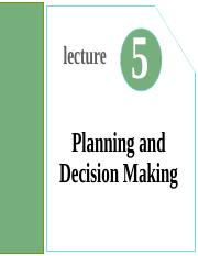 Lecture05- Planning and Decision Making.ppt