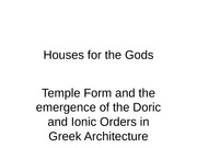 Houses for the gods