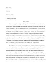 Why Teach Final Essay