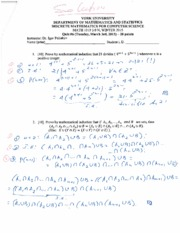 MATH 1019 Quiz 6 Winter 2015