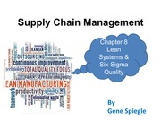 Chapter 8 Lean Systems & Six-Sigma Quality