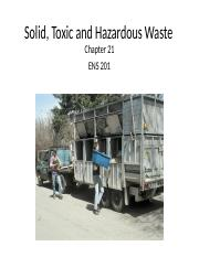 Topic 11- ENS201 - Solid, Toxic and Hazardous Waste.ppt