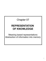 07 - Representation of Knowledge