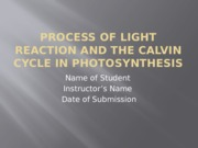 Process of Light Reaction and the Calvin Cycle.pptx