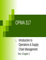 OPMA 317 01 Introduction V5