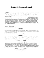 Data and Computer Communication Exam ll.docx