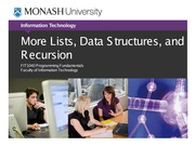 Lecture 7B More Lists, Data Structures, and Recursion