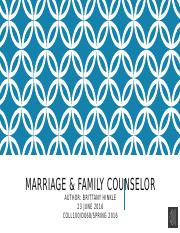 Marriage & family counselor