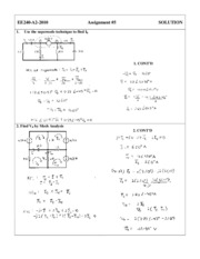 EE 240 - HOMEWORK - Solution 5