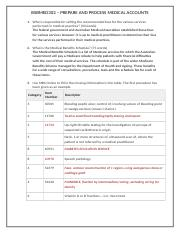BSBMED302 PREPARE AND PROCESS MEDICAL ACCOUNTS PAGE 1.docx