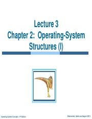 Lecture 3 -CH 2 (I)