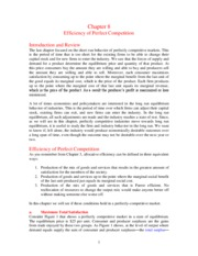 Chapter 08 _Efficiency of Perfect Competition_