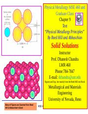 MSE 460-701 Ch.9 Solid Solutions.ppt