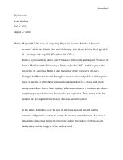 Euthanasia - Annotated Bibliography