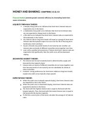 money and banking study guide