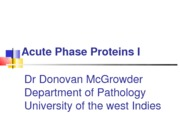 No.22c Acute Phase & Carrier Proteins Relevance in Diagnosis & Treatment 1