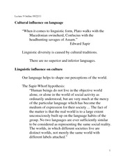 Lecture 09 Language and culture