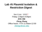 09 320 Lab _5 restriction digest friday