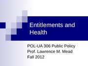 Entitlements and health (1)