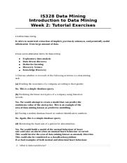 Tutorial 2 Exercises and Answers