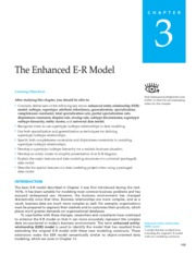 Modern DB Mgmt.Ch3.Enhanced ER Model