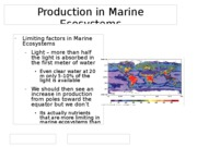 Production in Marine Ecosystems