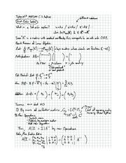 Exam 7 solution on Differential equations
