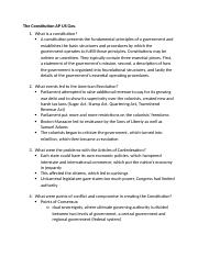 The Constitution Ch. 2 AP US Gov.docx