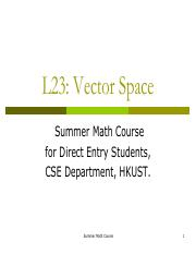 24.Vector Space