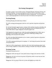 Purchasing Management Group Project
