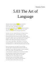 5.03 The Art of Language.docx