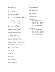 CH 301 - Equation Sheet