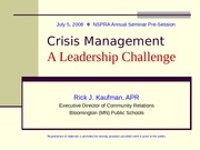 Crisis-Management-A-Leadership- Power Point for DB 7