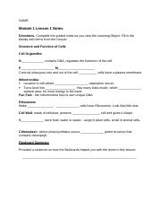 Module 1 Lesson 1 Guided Notes
