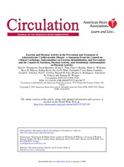 Exercise and CVD Prevention