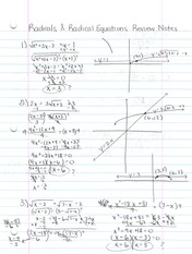 Radical Equations Review