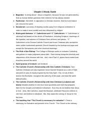 J-Church Chapter 4 Study Guide