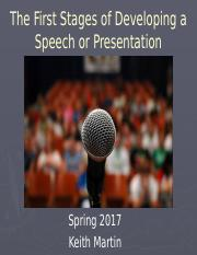 Developing a Speech or Presentation